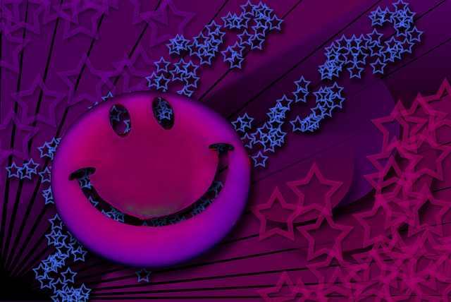 Neon Smiley Face